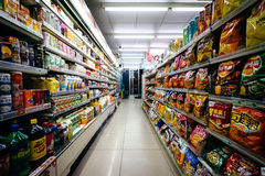The interior of a convenience store in the Zhongzheng District, Stock Photography