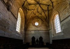 Interior of the Convent of Christ in Tomar, Portugal Stock Image