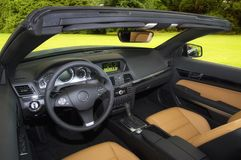 Interieur of a Convertible Royalty Free Stock Photo