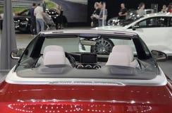 Interior convertible lujoso del lado trasero imagen de archivo libre de regalías