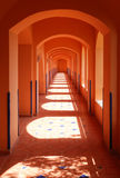 Interior of the corridor stock image