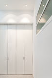 Interior, corridor with closets. Interior of a modern building, detail corridor with closets stock image