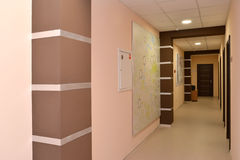 Interior of a corridor of office building Royalty Free Stock Image