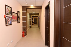 Interior of a corridor of office building Stock Image