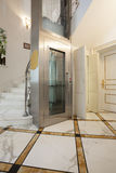Interior of a corridor with passenger lift Royalty Free Stock Photo