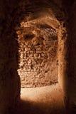 Interior corridors of El Badi Palace Stock Images