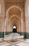 The interior corridors at the Hassan II Mosque in Casablanca, Royalty Free Stock Photos