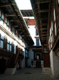 Interior corridors of monastery Royalty Free Stock Image