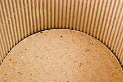 Interior of a corrugated cardboard container Stock Photography