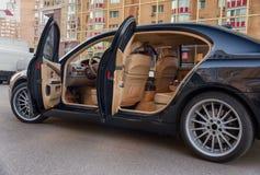 Interior costoso del coche Fotografía de archivo