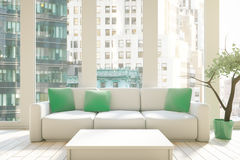 Interior with couch Royalty Free Stock Photos
