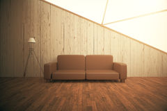 Interior with couch and lamp Royalty Free Stock Image