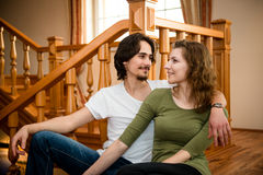 Interior couple portrait Stock Photo