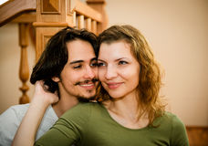 Interior couple portrait Stock Photography