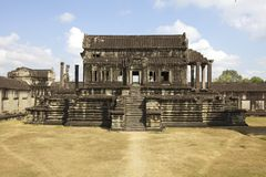 Interior Courtyard of Angkor Wat Temple Royalty Free Stock Images