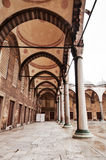 Interior courtyard of Blue Mosque in Istanbul. Interior courtyard of Blue Mosque  (Sultan Ahmet Mosque) in Istanbul. Turkey Stock Image