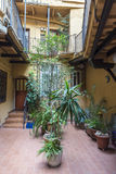 Interior courtyard of a building Stock Photography