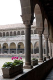 Interior Courtyard In Cusco Royalty Free Stock Photo