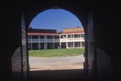 Interior of courtyard of Fort McHenry National Monument in Baltimore, MD royalty free stock image