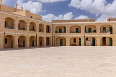 Interior Courtyard at Fort St. Elmo Royalty Free Stock Photography