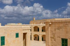 Interior Courtyard at Fort St. Elmo. In Valletta, Malta Royalty Free Stock Photography