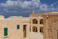 Interior Courtyard at Fort St. Elmo. In Valletta, Malta Stock Images