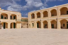 Interior Courtyard at Fort St. Elmo Stock Photo