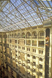 Interior courtyard of Old Post Office, Washington, DC Royalty Free Stock Photo