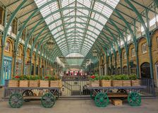 Interior of Covent Garden Market stock photography