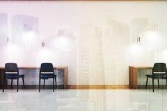 Interior coworking de la pared blanca entonado stock de ilustración