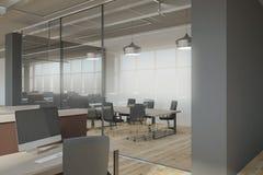 Interior coworking limpo do escritório Fotografia de Stock
