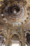 Interior crafted designs on rocks at Sun Temple Modhera Stock Photography