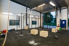 Interior Of Cross Fitness Box Stock Photos