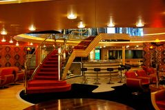 Interior cruise liner stock image