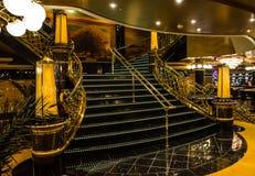 Interior of cruise liner Splendida, MSC.  Stock Photography