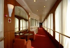 Interior cruise ship. Lobby on ship Royalty Free Stock Photography