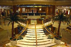 Interior on a cruise ship Royalty Free Stock Photography