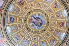 Interior of the cupola in the Roman catholic church St. Stephen's Basilica in Budapest Royalty Free Stock Images
