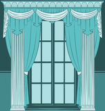 interior with curtain. Stock Image