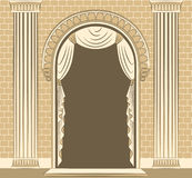 interior with curtain. Royalty Free Stock Images