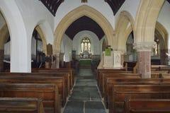 Interior of Cutcombe Church Stock Image