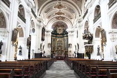Interior of the czech church Stock Image
