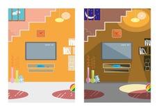 Interior - día y noche Foto de archivo libre de regalías
