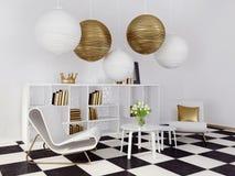 interior 3D Imagem de Stock