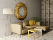 interior 3D Imagem de Stock Royalty Free