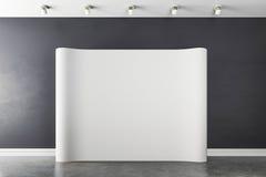 interior 3d con el cartel blanco en blanco ilustración del vector