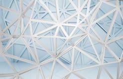 interior 3d con las construcciones caóticas del marco del alambre 3d Foto de archivo libre de regalías