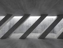 interior 3d concreto Colunas diagonais Fotografia de Stock