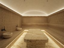 interior 3d del hammam de lujo del baño turco libre illustration