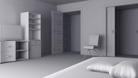 Interior 3d Stock Images